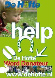 Poster A3 De Hofte Donateursactie